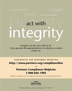 Act With Integrity Poster