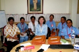 Betsy Brown with group of Wockhardt nurses