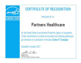 Energy Star recognition